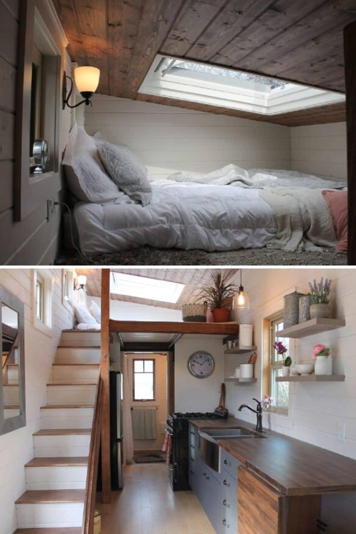 Canadian Tiny Homes Loft With a Skylight