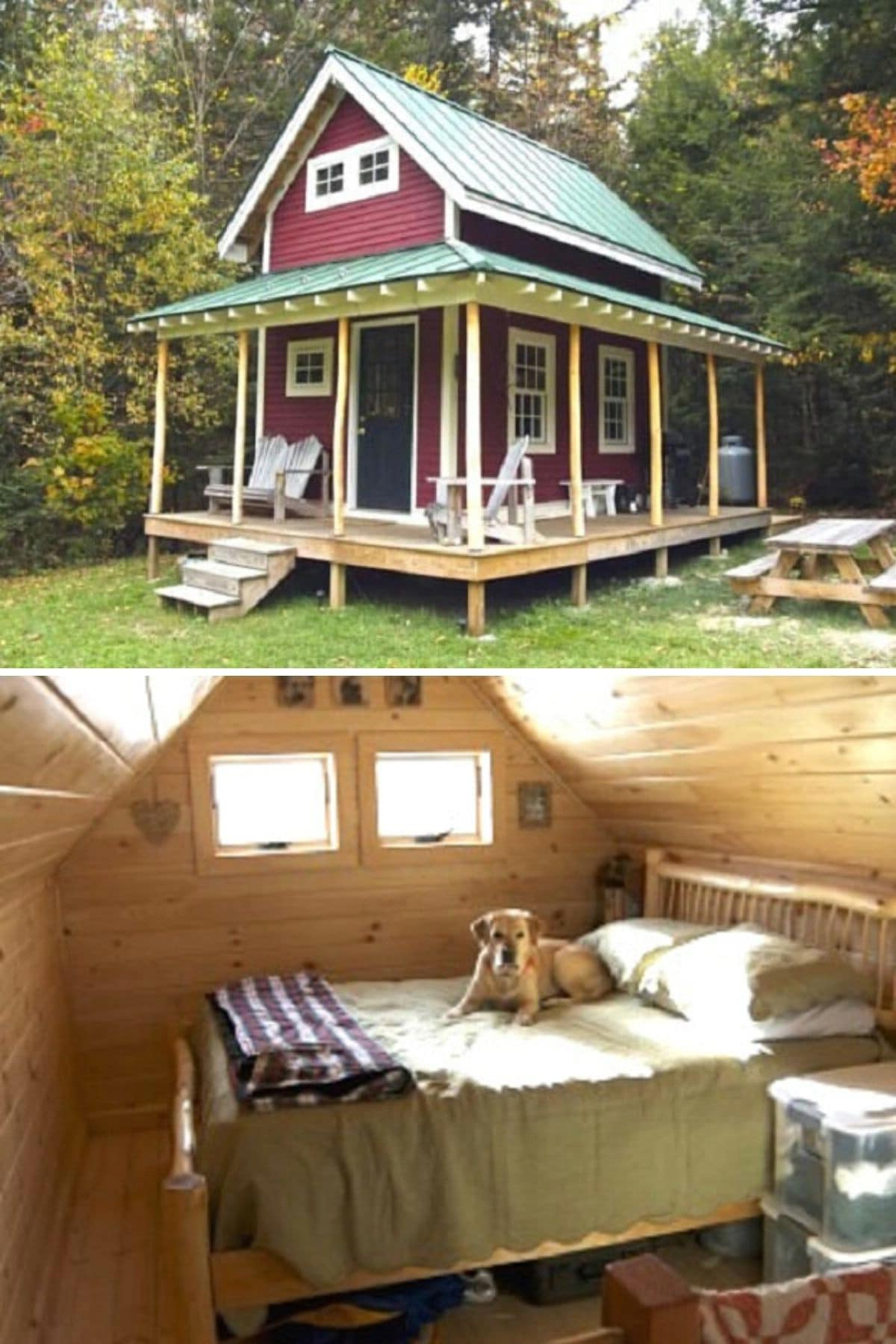 Vermont Tiny-Loft Cabin