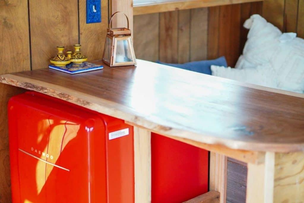 Raw wood edge countertops