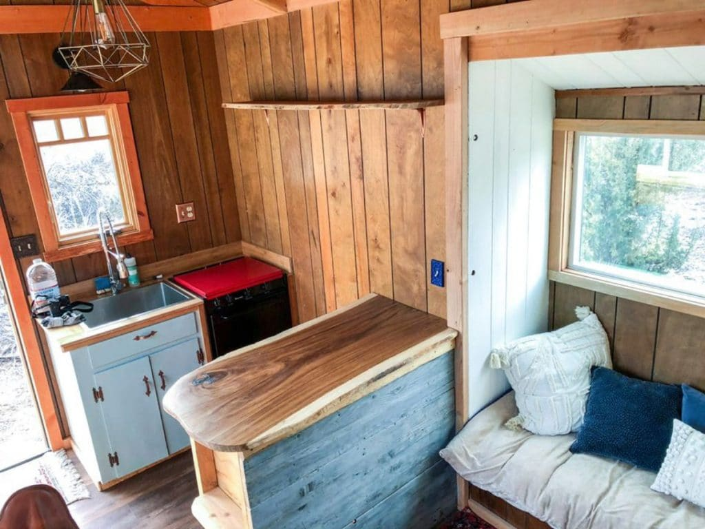 Small kitchen space in tiny home
