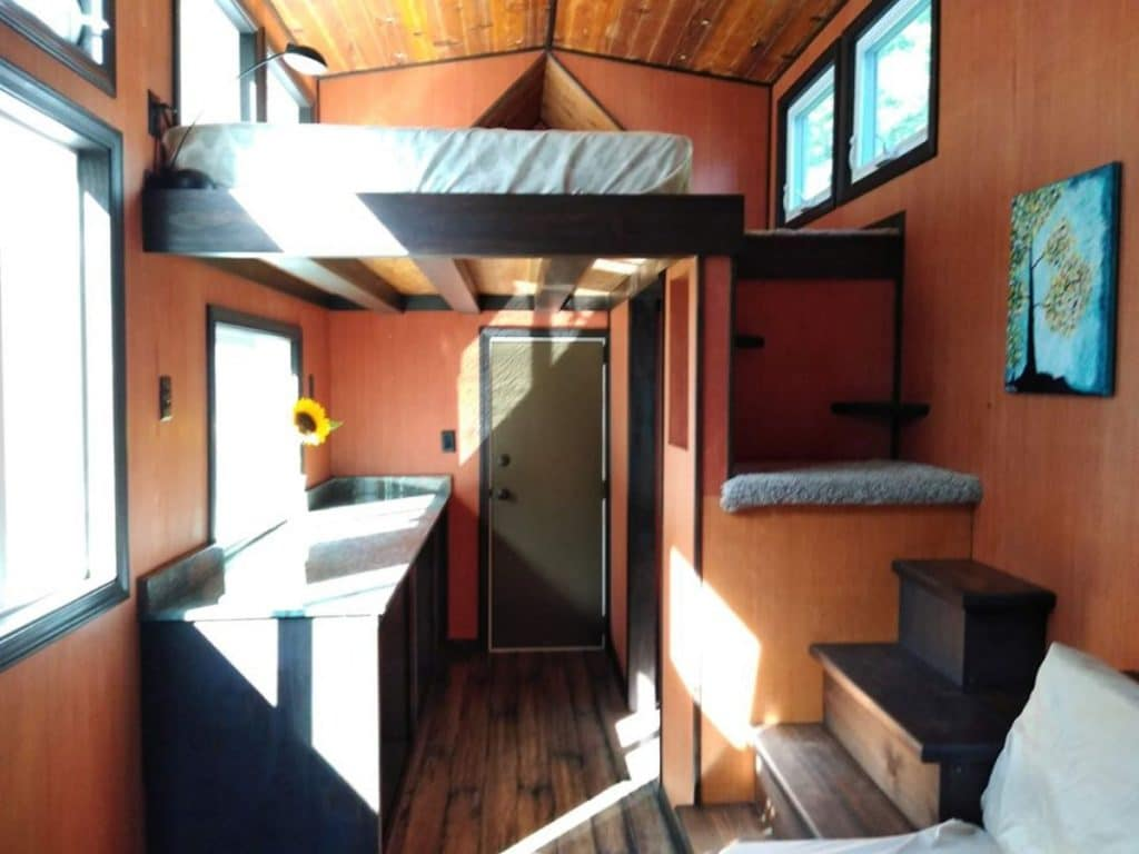 Kitchen of tiny home