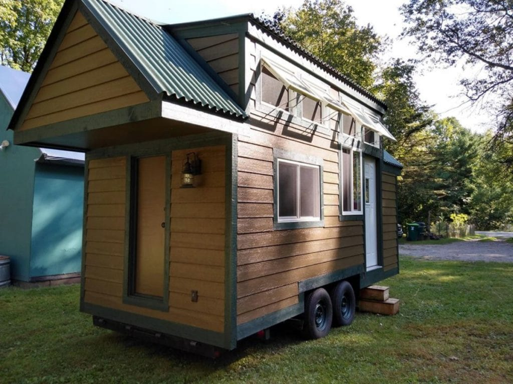 Exterior and door to tiny home