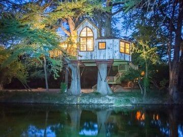 Utopia Chapelle Treehouse in Twilight