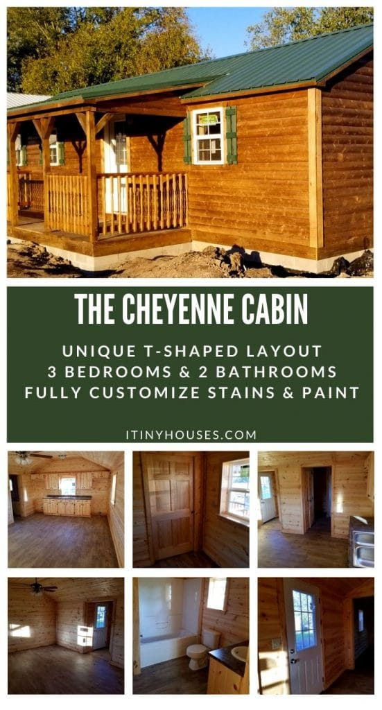 Cheyenne Cabin tiny home collage
