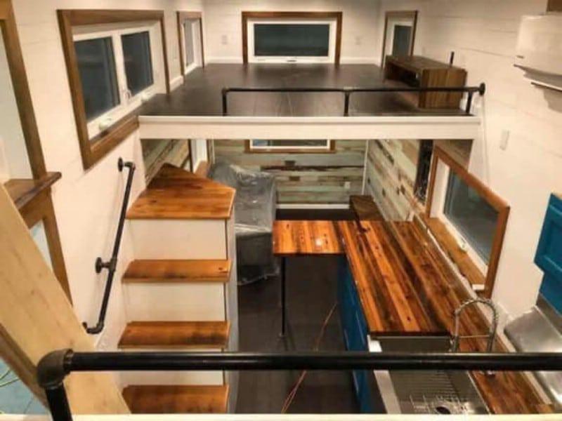 Loft view in louisiana custom home