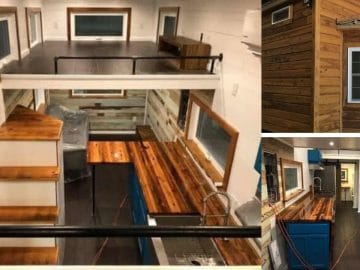 Louisiana custom tiny home collage