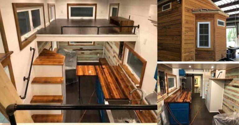 Louisiana custom tiny home collage