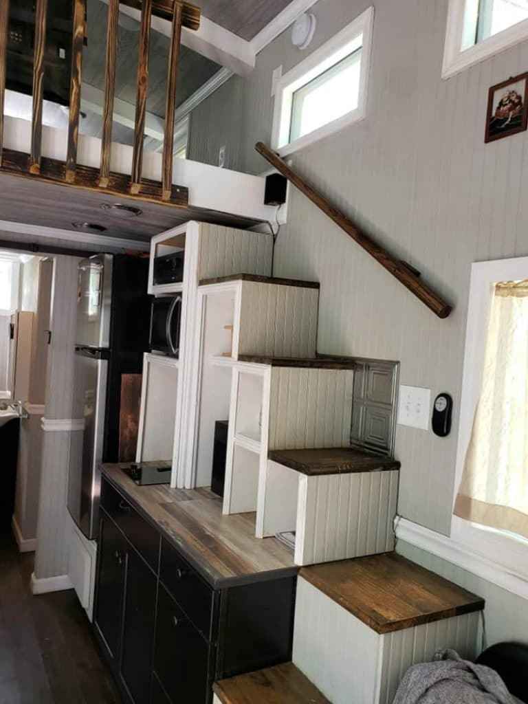 Storage steps in tiny home