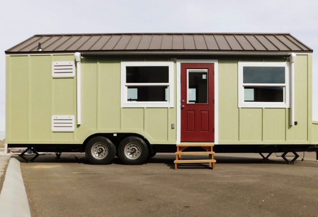 Cascade tiny home in green