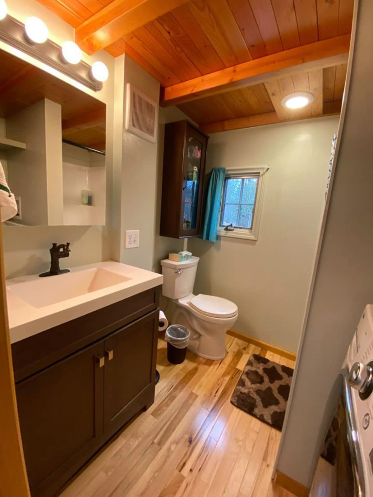 Sink and toilet of log cabin