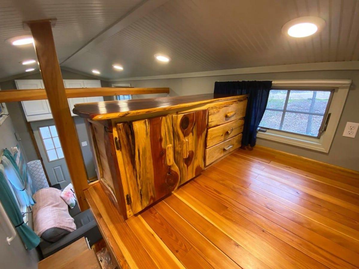 Cedar chest in loft