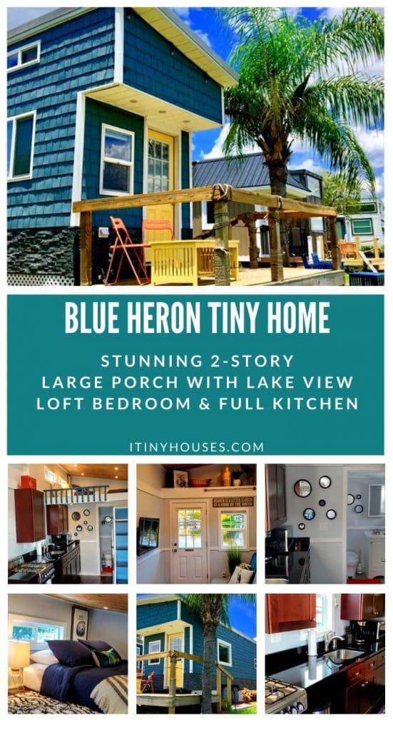 Blue heron collage