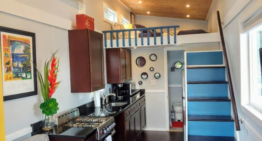 Blue heron kitchen with loft
