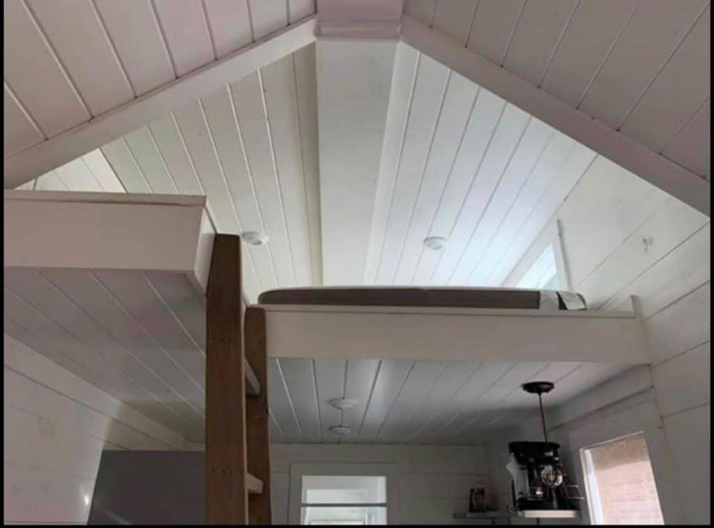 Loft tiny house bedroom