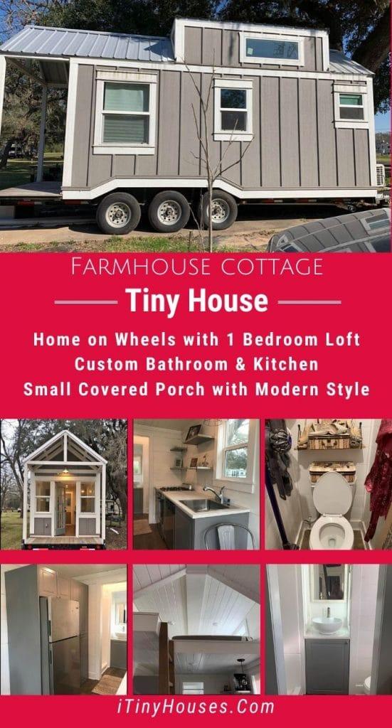 Cottage farmhouse on wheels collage