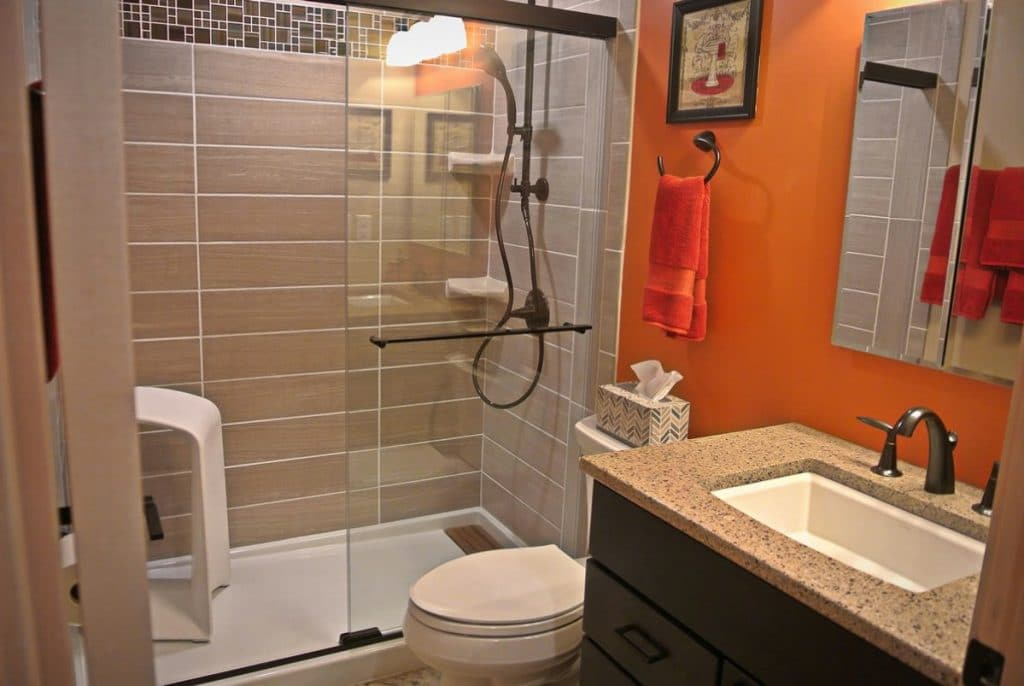 Bathroom with spa shower