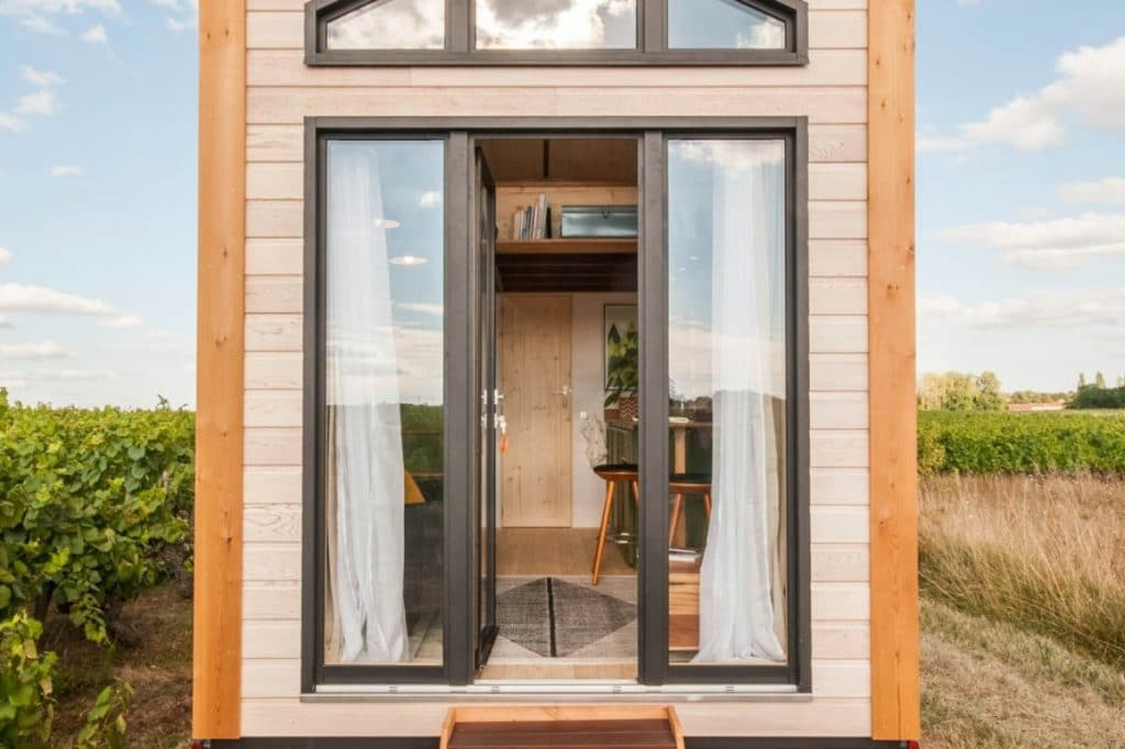 Front door to epona tiny home