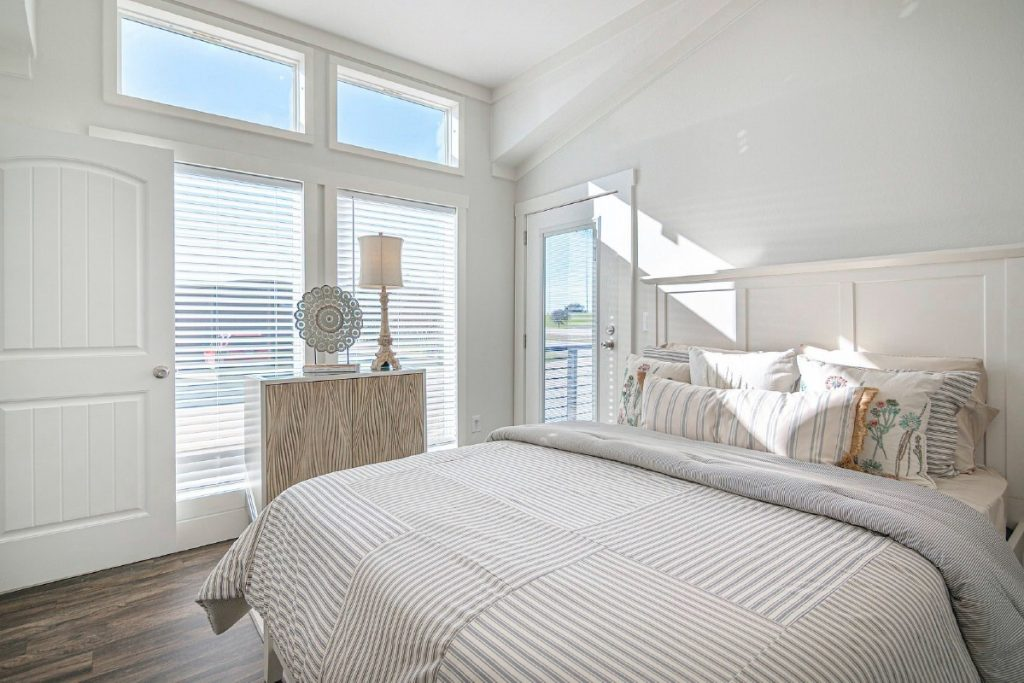 Smart cottage bedroom