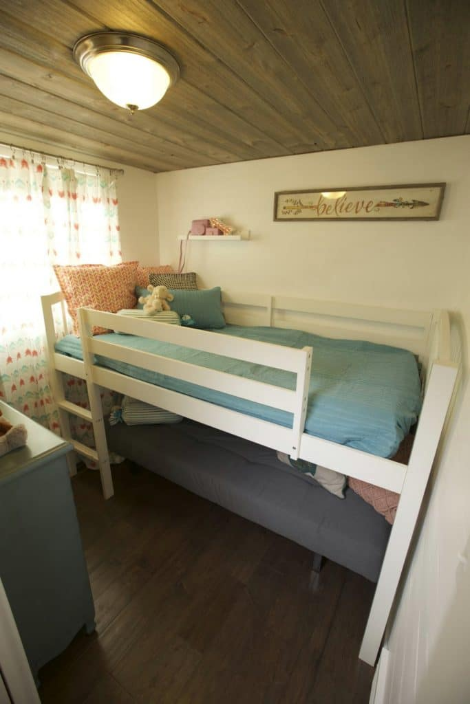 Trundle bed in the fairchidl tiny house
