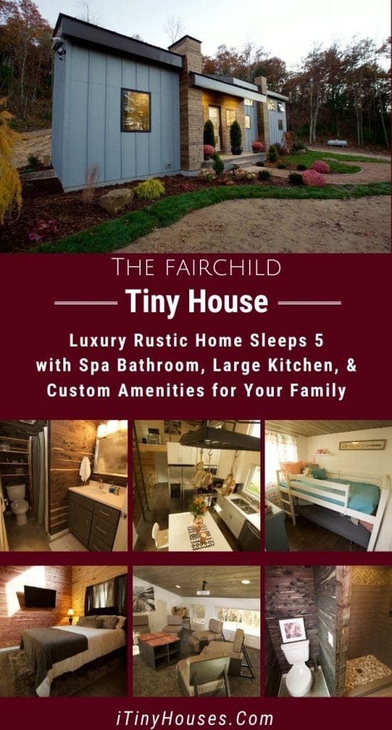 The Fairchild tiny home collage