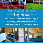 Lakeside Retreat tiny house collage