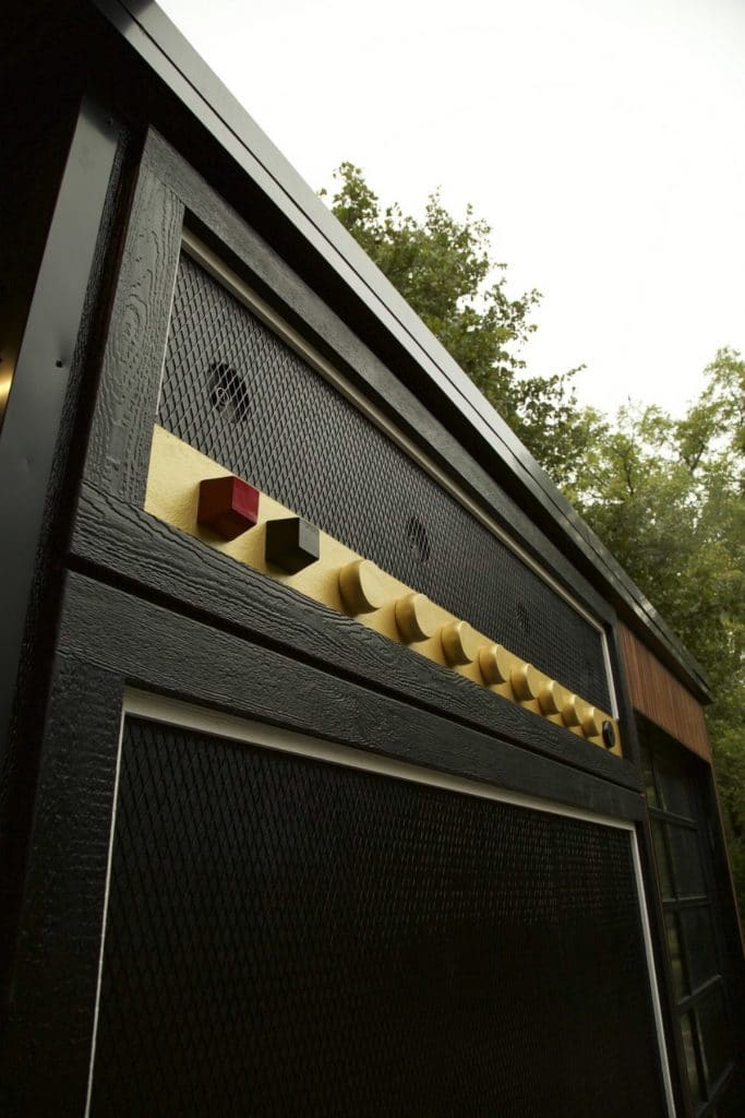 Custom amp exterior on tiny home