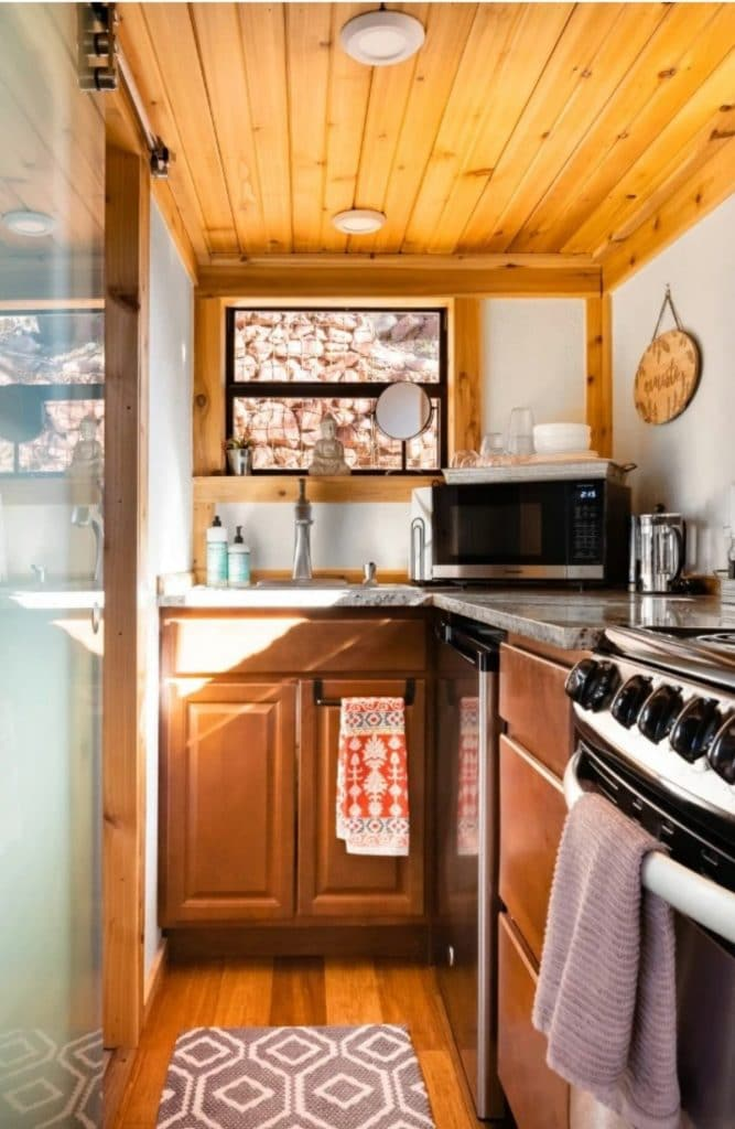 Stove in tiny house