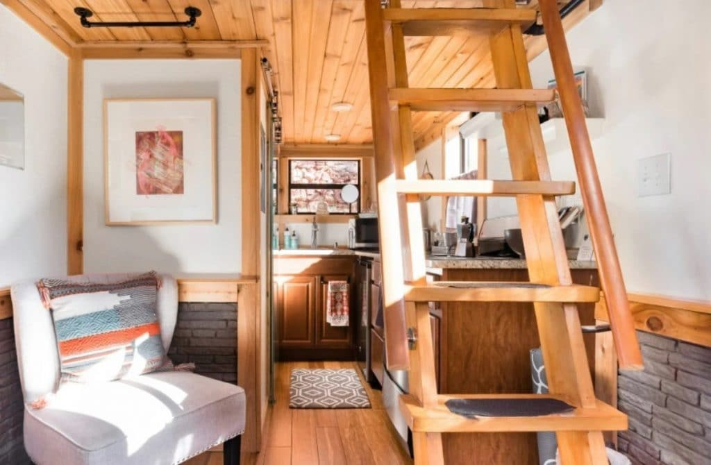 Living area of the grow tiny house