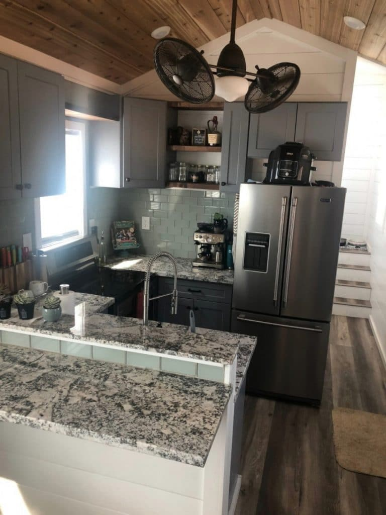 Kitchen in tiny home