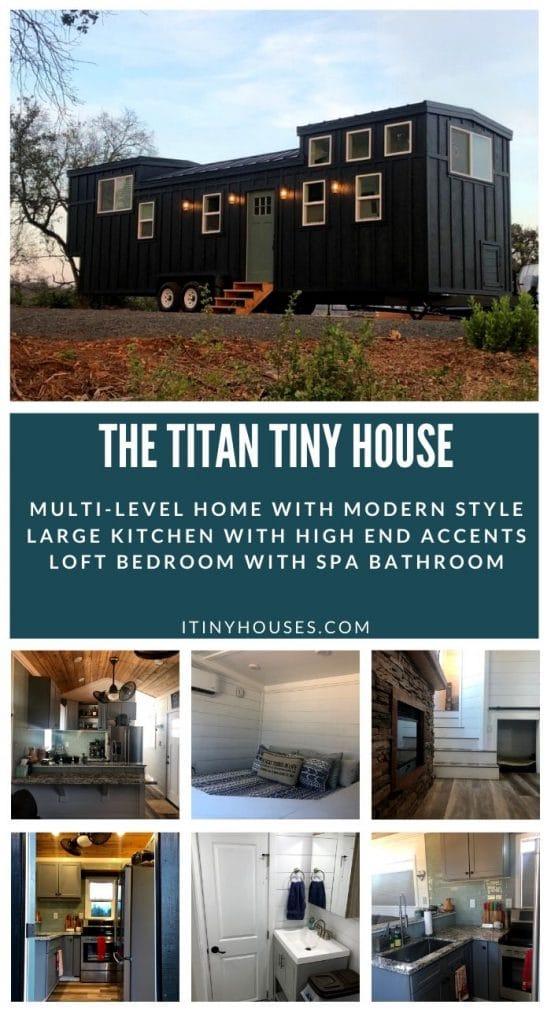 The Titan tiny house collage