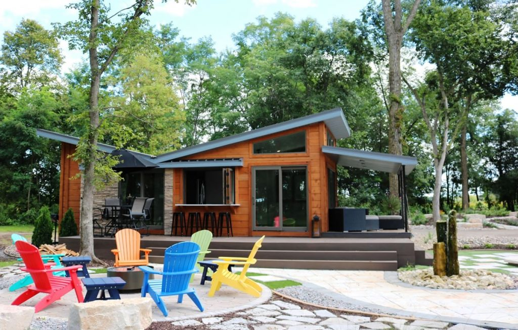 Side of Valley Forge tiny home