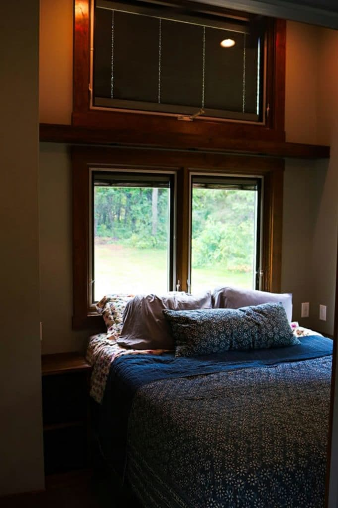 Bedroom in valley forge tiny house