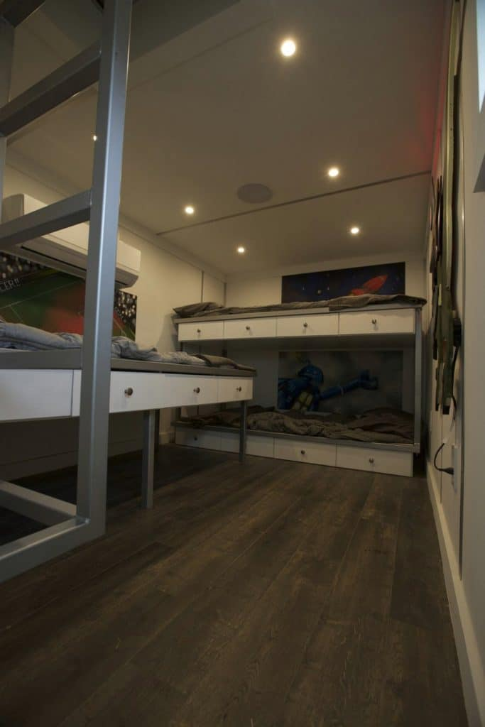 Bunk beds in tiny house