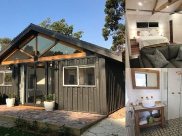Aussie container home collage