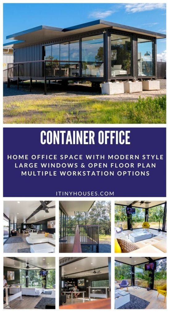 Container office collage