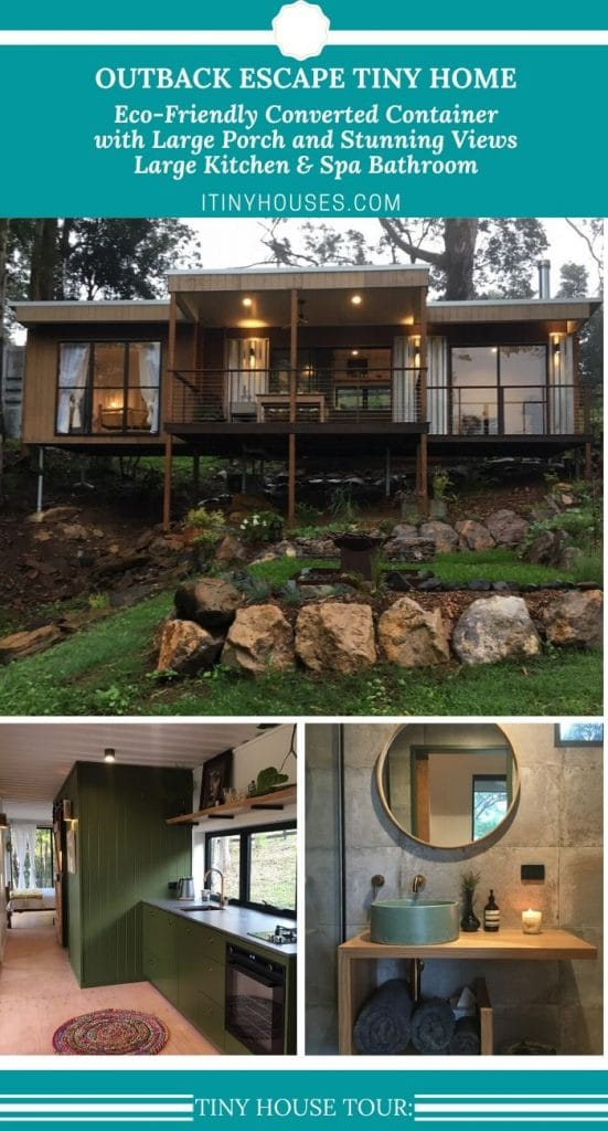 Outback Escape container home collage