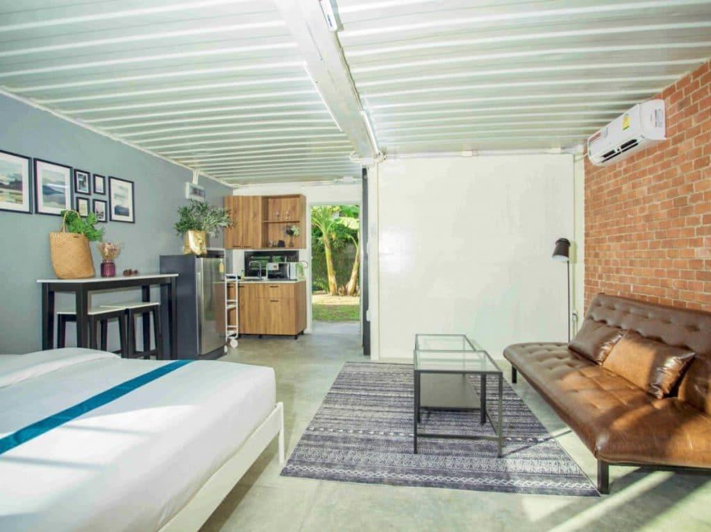 View of kitchen in phuket loft