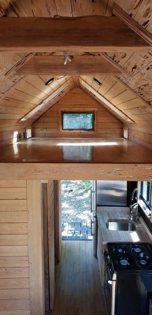 Loft in tiny home