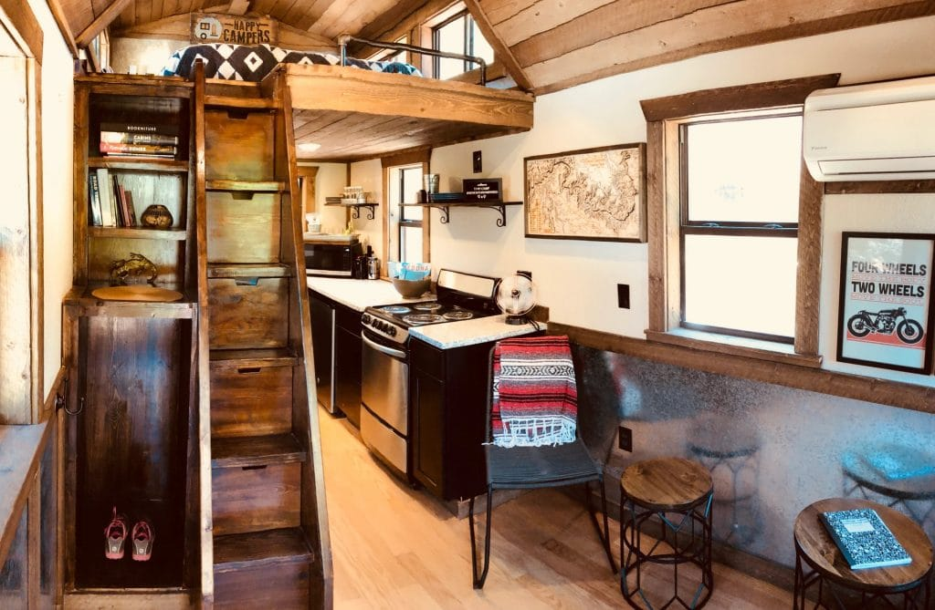 Living area of The Renew tiny house