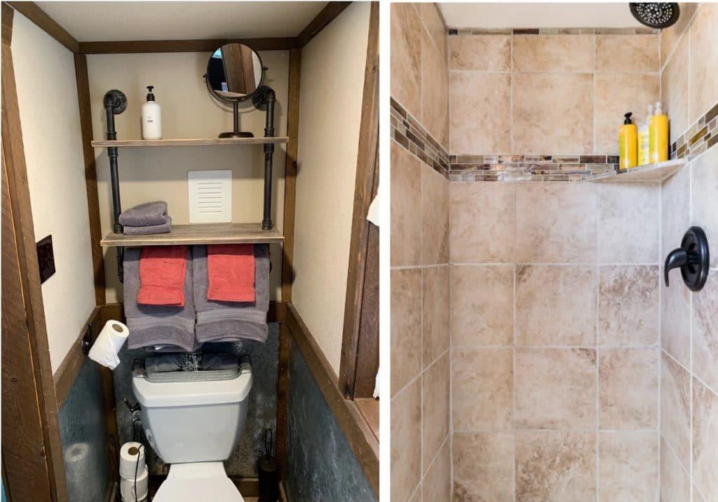 Bathroom in Renew tiny house