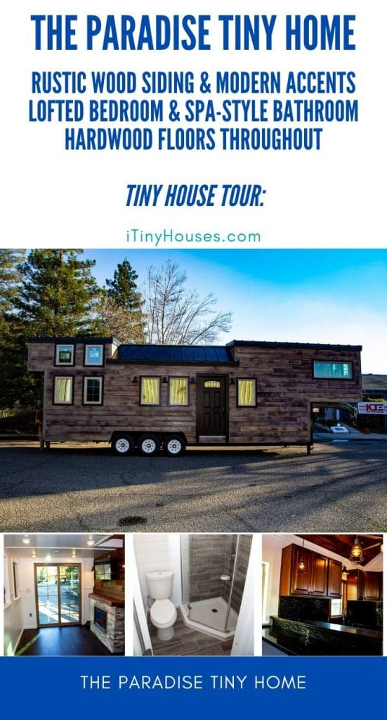 The Paradise tiny home collage