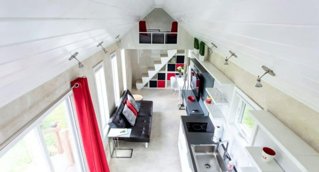 View from loft in The Universal tiny home