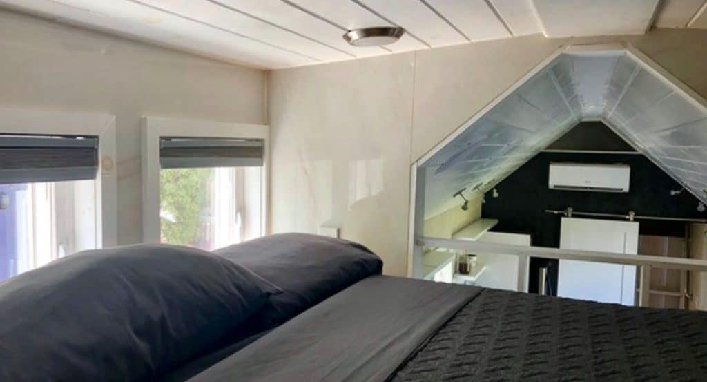 Bed in loft bedroom