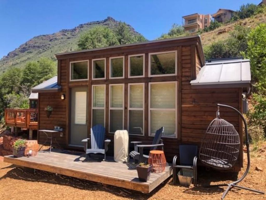 Aspire tiny house on mountainside