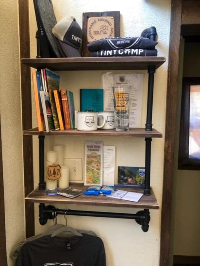 Book shelf in tiny house