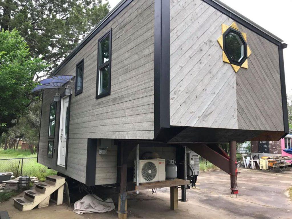 Grey exterior tiny house