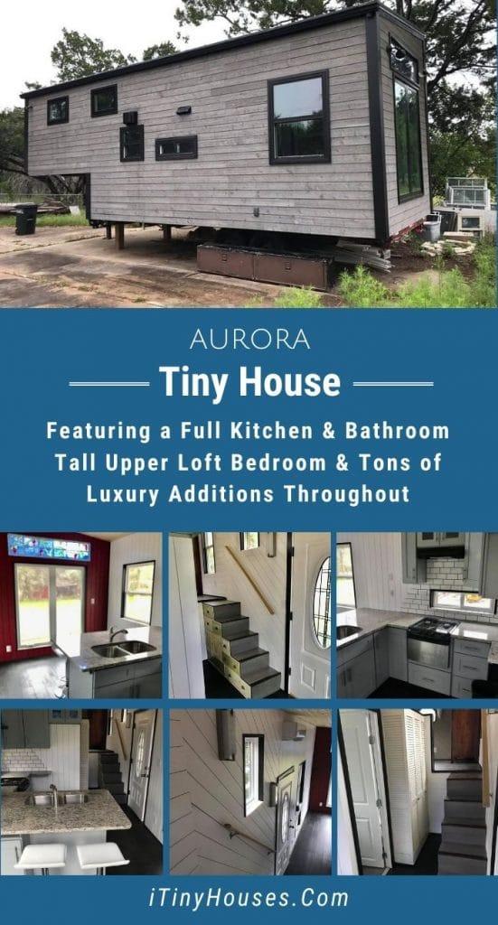 Aurora tiny house collage