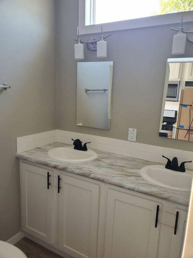 Tiny house dual sink vanity