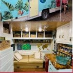Bohemian RV tiny house collage