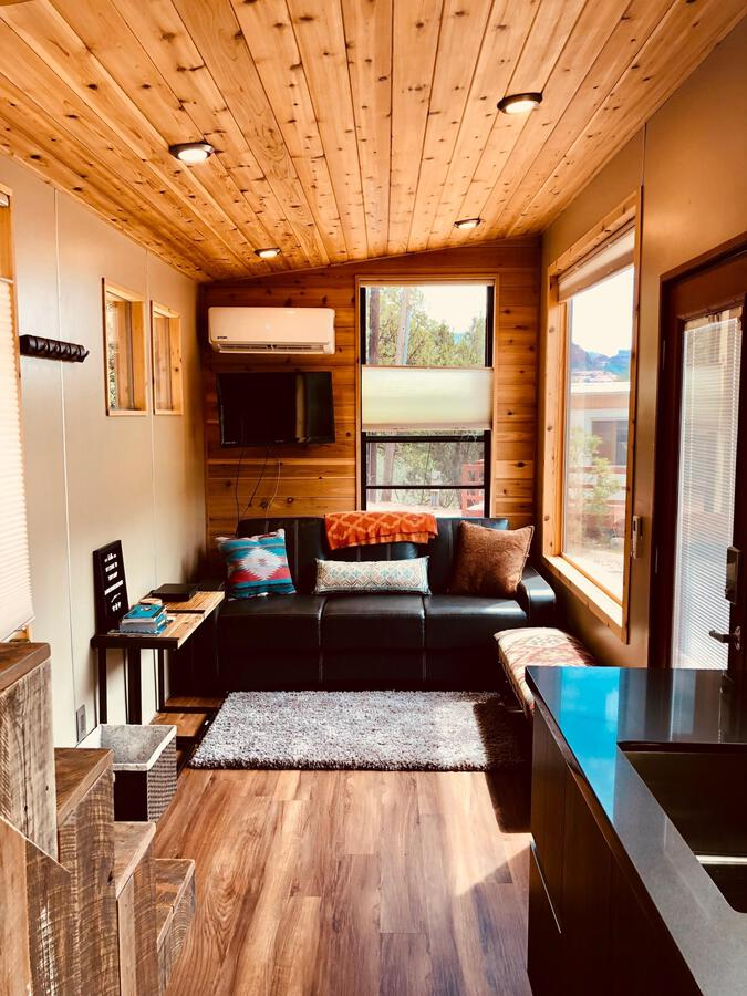 Living room in breathe tiny house